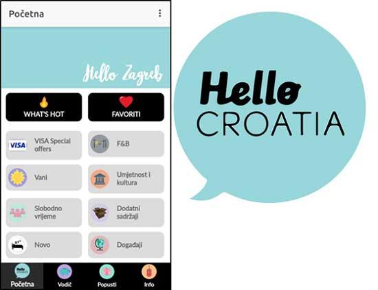 Hello Zagreb mobilna aplikacija